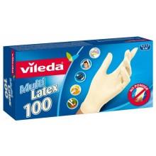"""VILEDA Rukavice Multi Latex 100ks """"S/M"""" 146087"""