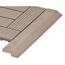 WPC Přechodová lišta pro dlaždice G21 indický teak, 38,5 x 7,5 cm rohová 63910062