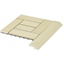 WPC Přechodová lišta pro dlaždice G21 Cumaru, 38,5 x 7,5 cm rohová 63910061