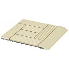 G21 WPC Přechodová lišta pro dlaždice Cumaru 30 x 75 cm rovná 63910066