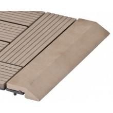 WPC Přechodová lišta pro dlaždice G21 indický teak, 30 x 75 cm rovná 63910065