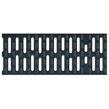 ACO Drainlock V/X100 - B125, rošt můstkový 0,5 m, plastový černý (Microgrip) 132710