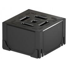 ACO HexaSelf -černý plastový rohový díl s černým plastovým roštem 19280