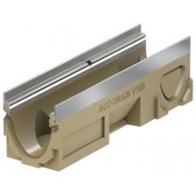 ACO Multiline Odvodňovací žlab V100, 500 mm, hrana z nerezové oceli 12432