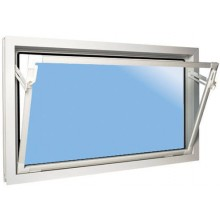 ACO sklepní celoplastové okno s IZO sklem 90 x 90 cm bílá
