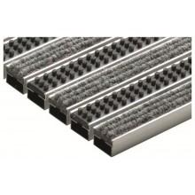 ACO rohožka s plstěnou výplní a kazetovými kartáči 75x50cm, šedá hliník. profily 10703