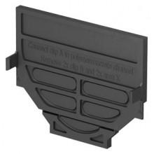 ACO EuroSelf kombinovaná stěna pro začátek a konec žlabu, plastová, černá 319288