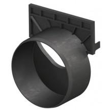 ACO EuroSelf Čelní stěna s odtokem, plastová, černá 319289
