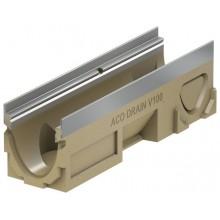 ACO DRAIN Multiline Odvodňovací žlab V100S, 500 mm, hrana z pozink. oceli 12332