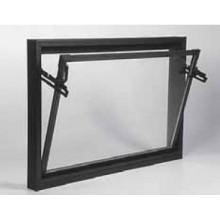 ACO sklepní celoplastové okno s IZO sklem 60 x 40 cm hnědá