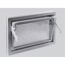 ACO Markant víceúčelové plastové okno s mřížkou proti hlodavcům 100 x 50 cm bílé F2008