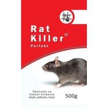AgroBio RAT KILLER Perfekt návnada , jed pro hubení hlodavců 500 g