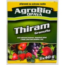 AgroBio THIRAM GRANUFLO 3x40 g Fungicid k ochraně broskvoní, jabloní, jahodníku 003229