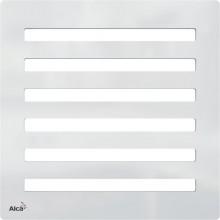 ALCAPLAST Designová mřížka 102 × 102 × 5 nerez MPV003