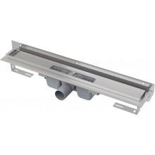ALCAPLAST Flexible Podlahový žlab 1050 mm pro perforovaný rošt ke stěně APZ4-1050
