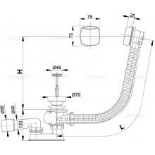 ALCAPLAST sifón vanový automat A 51CR chrom