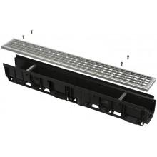 ALCAPLAST Standard Venkovní žlab 1000 mm, plastový rám + pozinkovaný rošt AVZ102-R103