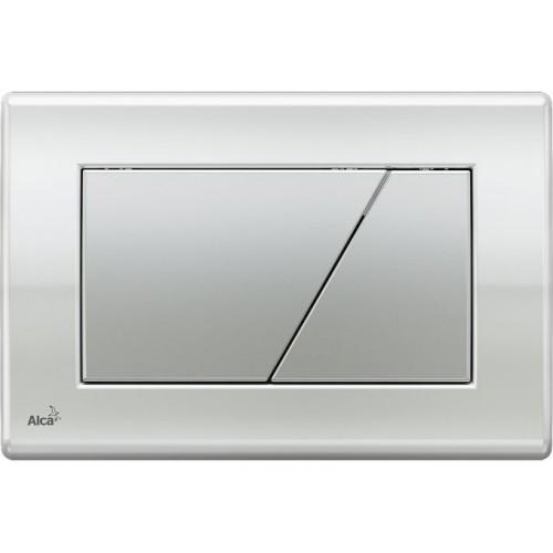 ALCAPLAST Ovládací tlačítko splachovací M173 (chrom kombinace deska: lesk, tlačítko: mat)