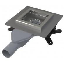 ALCAPLAST Podlahová vpust nerezová extra-nízká, 130×130 mm, boční APV110