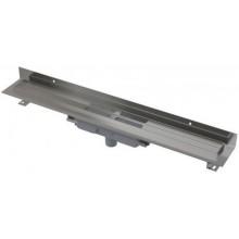 ALCAPLAST Wall Low Podlahový žlab s okrajem pro plný rošt 650mm, svislý odtok APZ1116-650