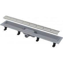 ALCAPLAST Simple Podlahový žlab s okrajem pro perforovaný rošt APZ10-850M