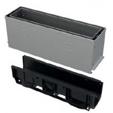 ALCAPLAST Štěrbinový venkovní žlab asymetrický revizní díl 160 mm z pozinkované oceli AVZ101S-R122R