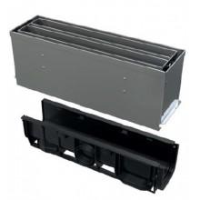 ALCAPLAST Štěrbinový venkovní žlab symetrický revizní díl 160 mm z pozinkované oceli AVZ101S-R124R