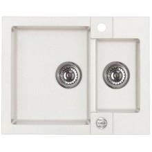 ALVEUS ROCK 80 kuchyňský dřez granitový, 595x475 mm, bílá