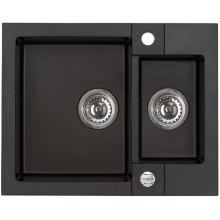 ALVEUS ROCK 80 kuchyňský dřez granitový, 595x475 mm, černá