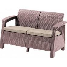 ALLIBERT CORFU LOVE Seat pohovka, 128 x 70 x 79cm, capuccino/písková 17197359