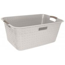 CURVER NUANCE 40L koš na čisté prádlo 60x39x26cm bílý 17197403