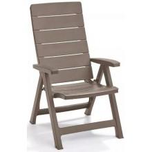 ALLIBERT BRASILIA zahradní židle polohovací, Cappuccino 17200064