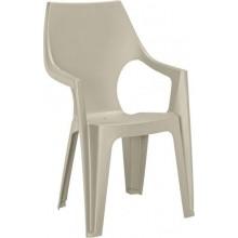 ALLIBERT DANTE zahradní židle s vysokým opěradlem, cappuccino 17187057
