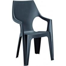 ALLIBERT DANTE zahradní židle s vysokým opěradlem, grafit 17187057