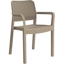 ALLIBERT SAMANNA zahradní židle, 53 x 58 x 83 cm, cappuccino 17199558