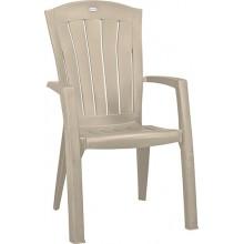 ALLIBERT SANTORINI zahradní židle, 61 x 65 x 99 cm, cappuccino 17180012