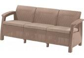 ALLIBERT CORFU LOVE Seat max pohovka, cappucinno/písková 17197959