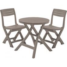 ALLIBERT JAZZ Set balkonová souprava, Cappuccino 17204593