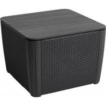 ALLIBERT LUZON PLUS Zahradní odkládací stolek, 57 x 57 x 43 cm, grafit 17208454