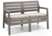 ALLIBERT DELANO 2 lavice,124 x 65 x 77cm, cappuccino/písková 17205384