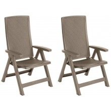 ALLIBERT MONTREAL zahradní židle polohovací 2 ks, 63 x 67 x 111 cm, cappuccino 17201891