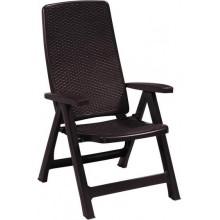 ALLIBERT MONTREAL zahradní židle polohovací, 63 x 67 x 111 cm, hnědá 17201891