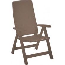 ALLIBERT MONTREAL zahradní židle polohovací, 63 x 67 x 111 cm, cappuccino 17201891