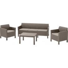 ALLIBERT ORLANDO 3 SEAT Set zahradní, cappuccino/písek 17202802