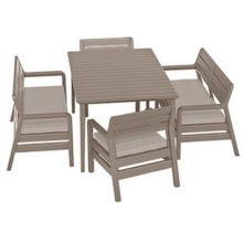ALLIBERT DELANO zahradní set, cappuccino/písek 17205371