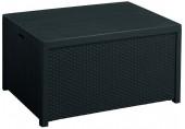 ALLIBERT ARICA stolek grafit, 79 x 59 x 42 cm, umělý ratan 17200570