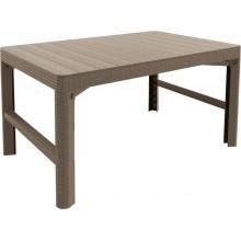 ALLIBERT LYON RATTAN zahradní stůl 116 x 71 , cappuccino 17205429