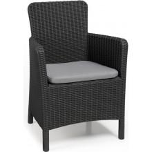 ALLIBERT TRENTON zahradní židle, 63 x 60 x 85cm, grafit 17202798