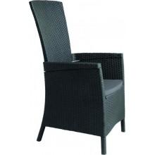 ALLIBERT VERMONT zahradní židle polohovací, 64 x 68 x 107cm, grafit 17201675