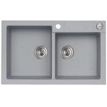 ALVEUS ROCK 90 granitový kuchyňský dřez 780x480 mm, beton